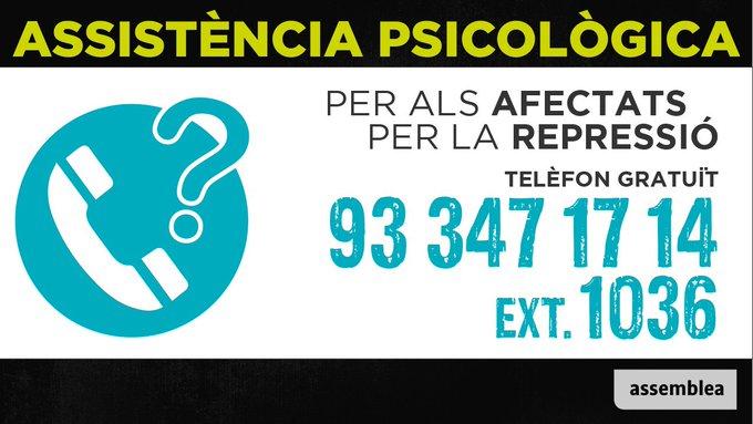 Assistència psicològica repressió Assemblea Nacional Catalana